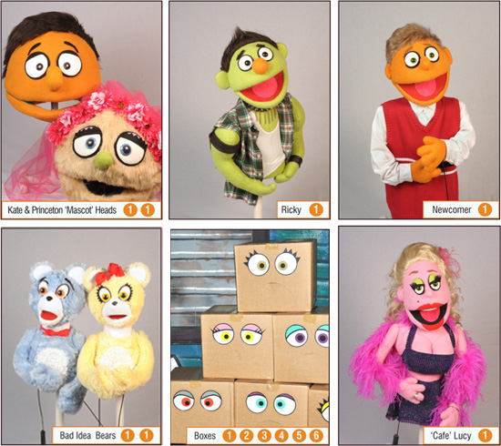 Avenue Q Puppet Rentals | Princeton, Kate Monster, Nicky