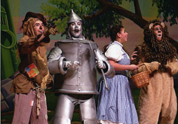 Scarecrow, Tinman, Dorothy and the Lion